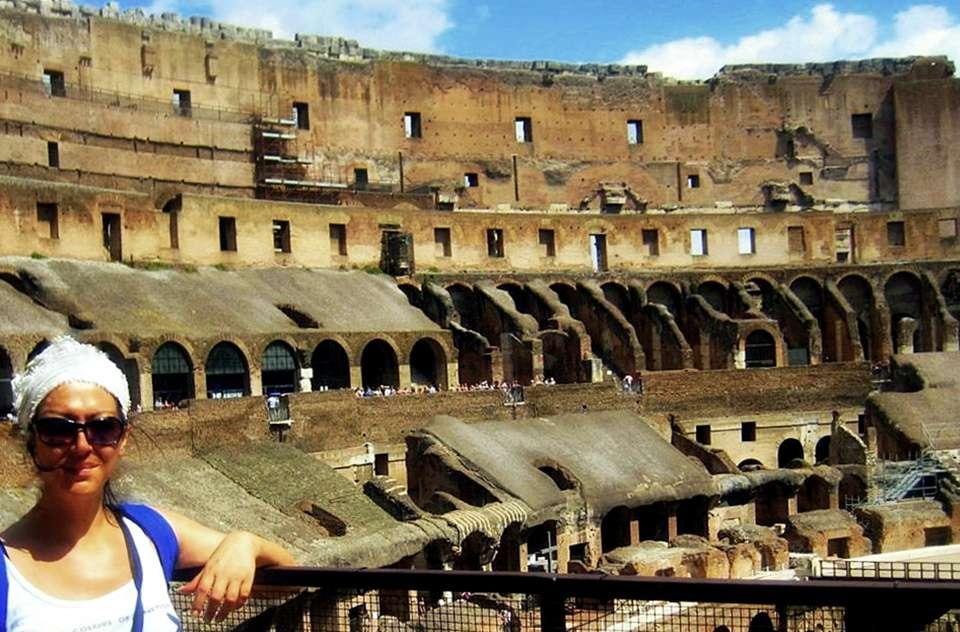 Kolezyum (Colesseo)'un İç Görüntüsü-Roma.