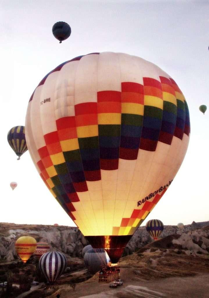 Kapadokya Balon-Kalkış anı