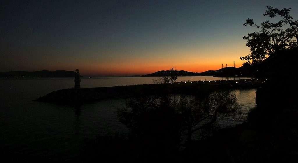 Kaş Yat Limanı gece