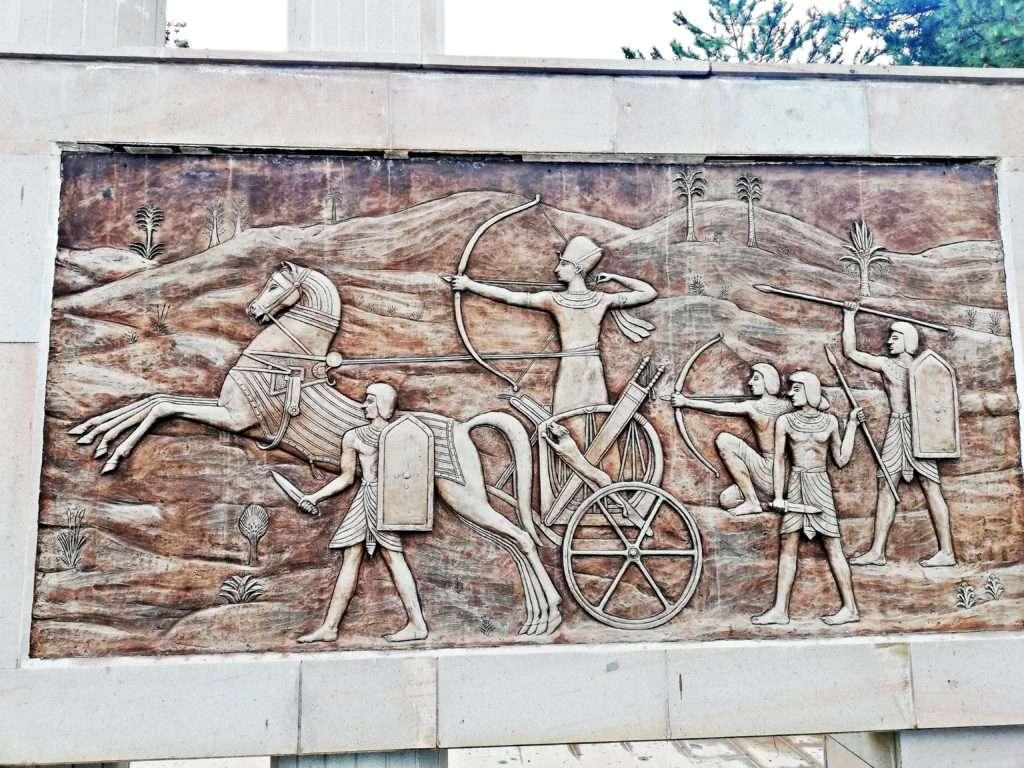 Kadeş Savaşı Anıtı Rölyef, Mısırlı Askerler- Boğazkale Çorum