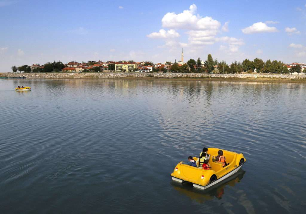 Beyşehir Gölü'nde Deniz Bisikleti