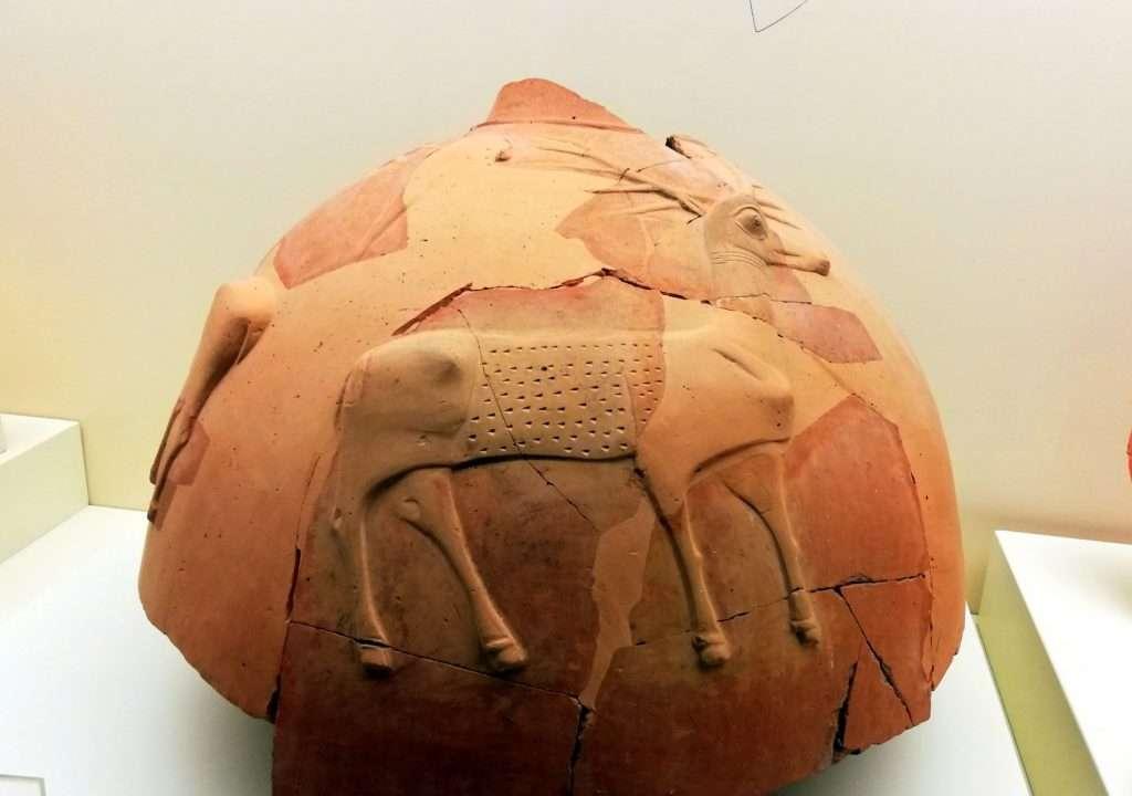 Geyik Kabartmalı Testi - Boğazköy Müzesi
