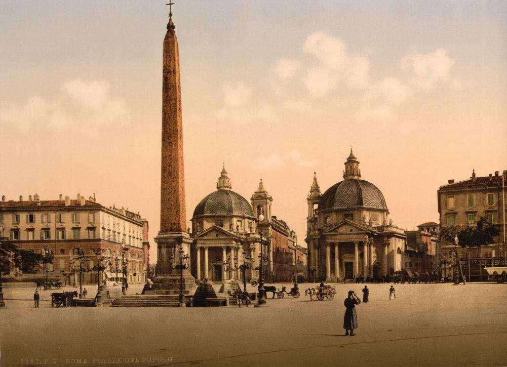 Piazza Del Popolo (Popolo Meydanı) 1890