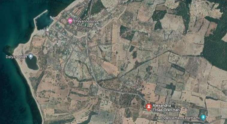 Alexandria Troas Antik Kenti Konum Haritası