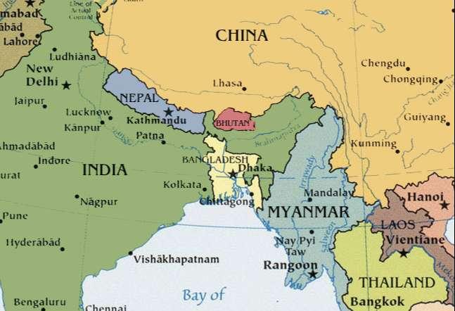 Bhutan ve Çevre Ülkeler