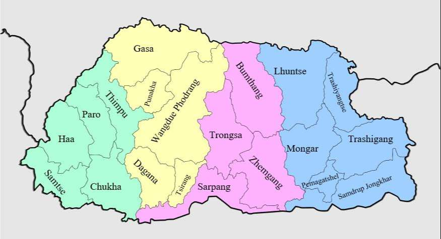 Bhutan ve Coğrafi Bölgeleri