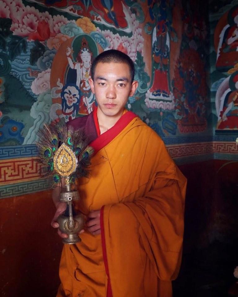 Genç Bir Budist Rahip