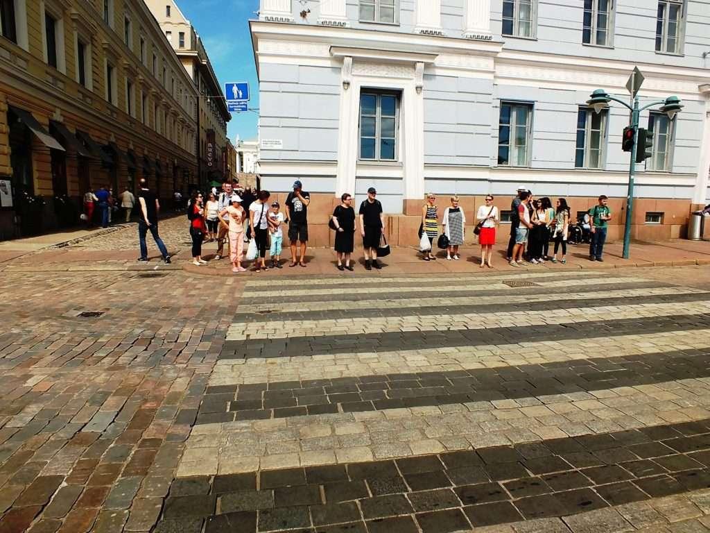 Helsinki'de Bir Yaya Geçidi