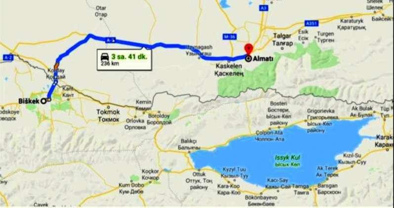 Bişkek Almatı Gidiş Dönüş ve Korday Sınır Kapısı İşlemleri