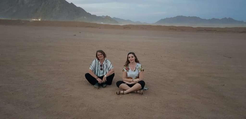 Sina Çölü'nde Gün Batımı