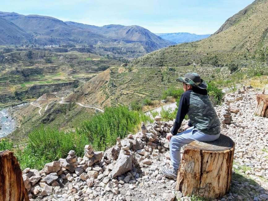 Vista de valle del Colca