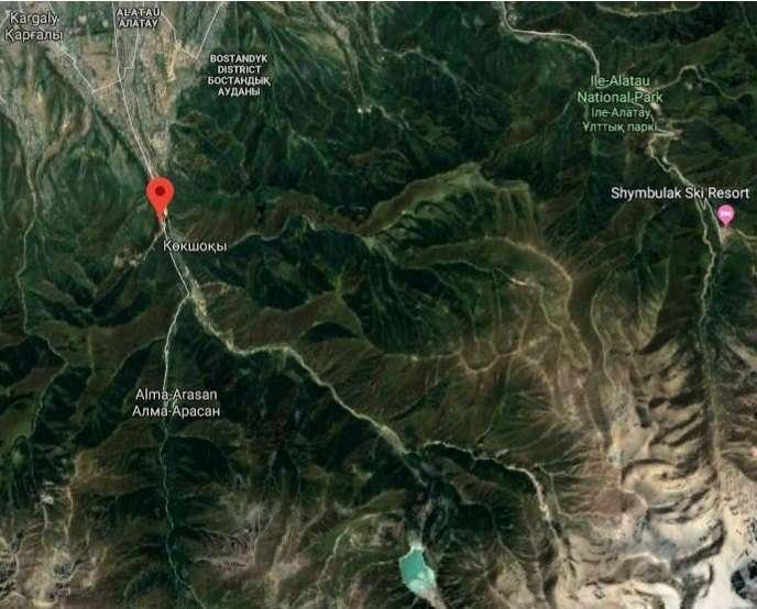 Almatı Kok Tobe Haritası