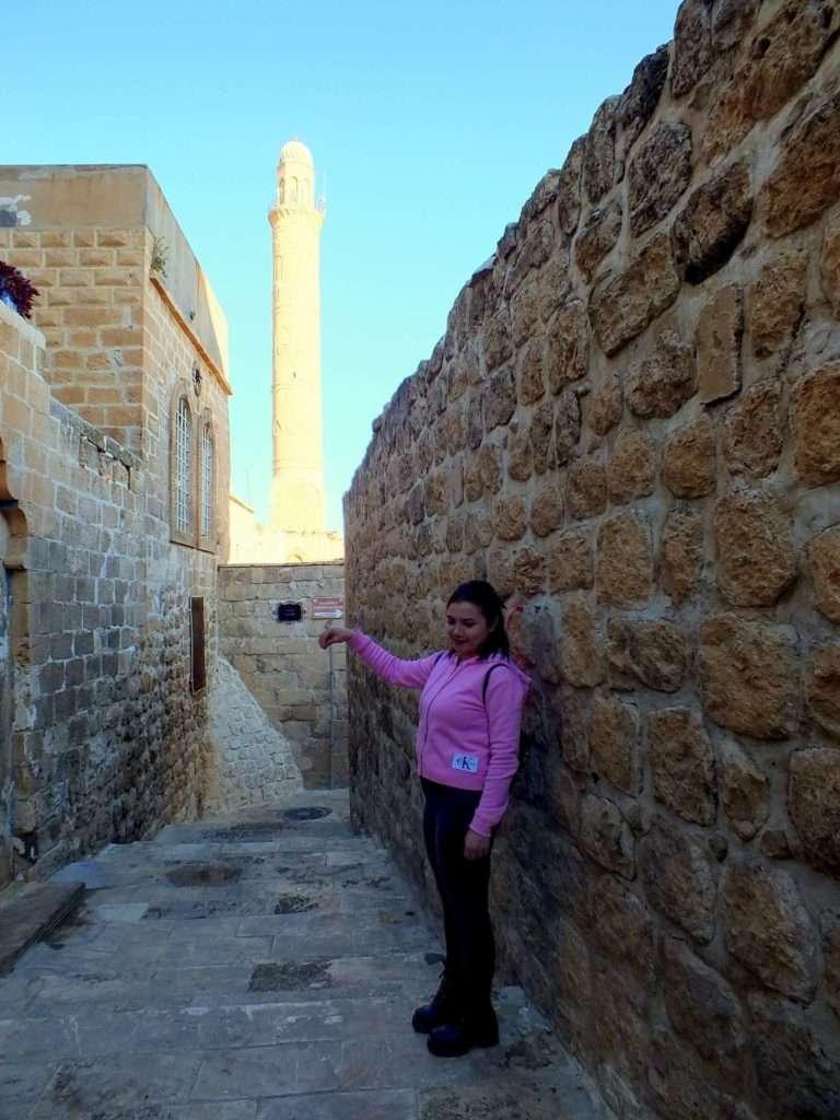Ulu Caminin Minaresi ile Fotoğraf Çekimi