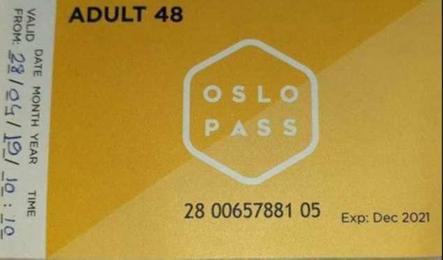 Oslo Ulaşım Sistemi2 Günlük Oslo Pass Kartı