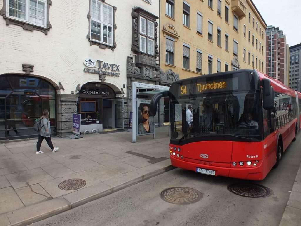 Oslo Ulaşım SistemiOslo'da Bir Otobüs