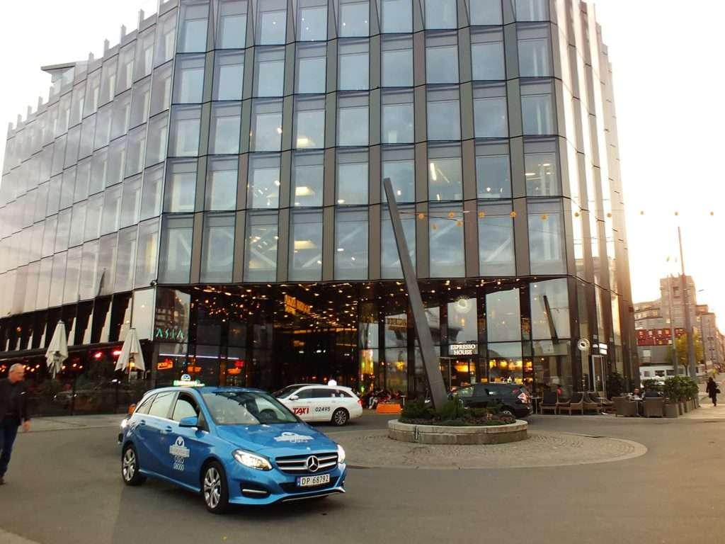 Oslo Ulaşım SistemiOslo'da Bir Taksi