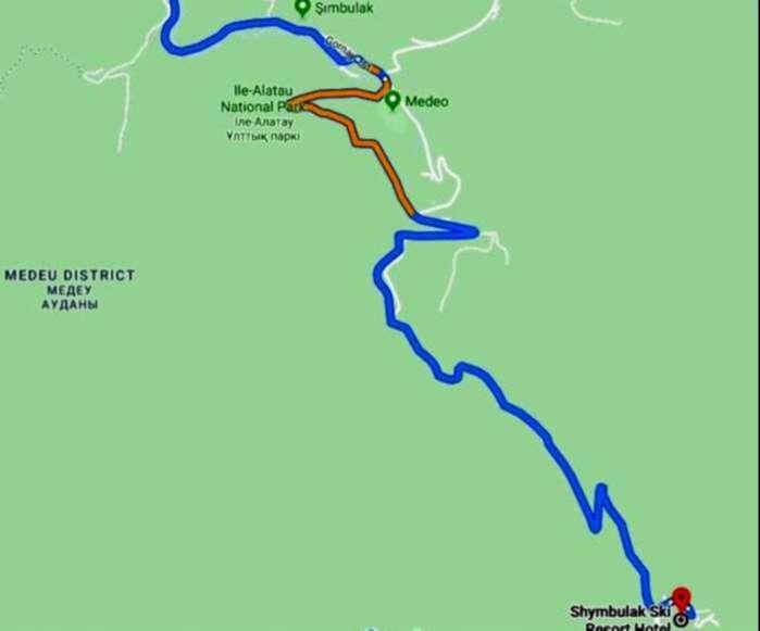 Shymbulak Kayak Merkezi'ne Ulaşım