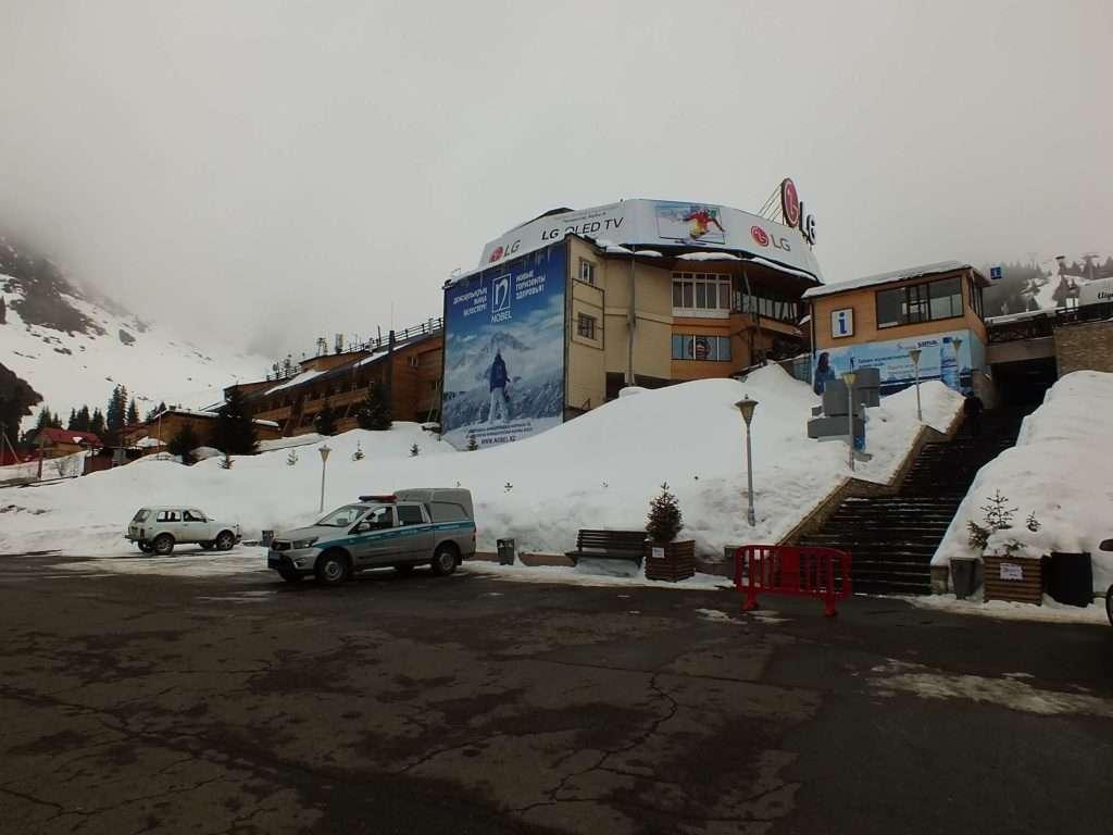 Shymbulak Kayak Merkezi Görevli Araçlar
