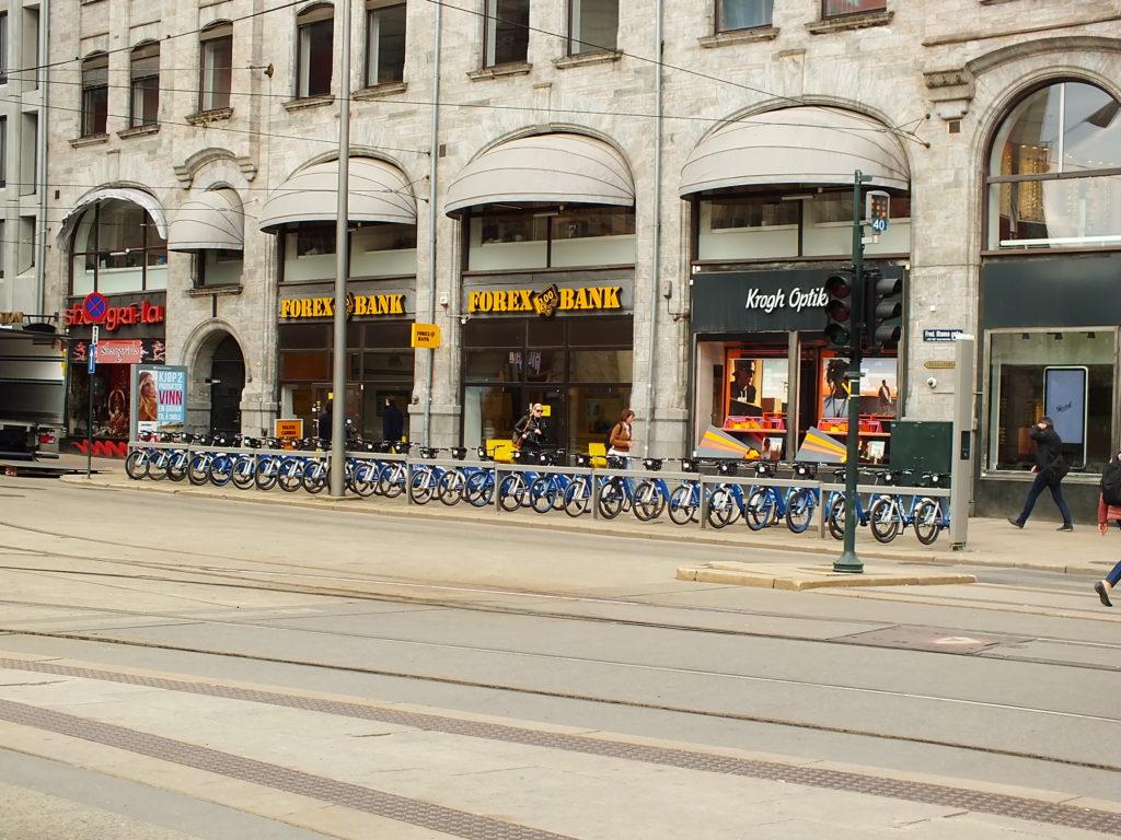 Oslo Ulaşım Sistemi Oslo'da Bir Bisiklet Parkı