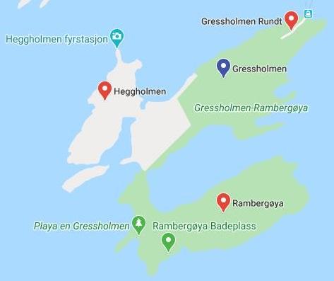 Heggholmen Gressholmen Rambergøya Adası