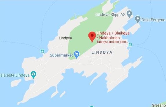 Lindøya Adası Haritası