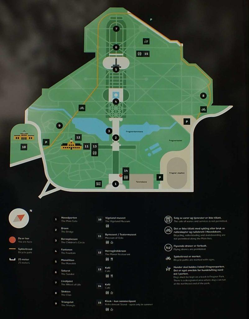 Vigeland Heykel Parkı (Vigelandsparken) Haritası