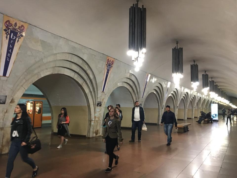 Erivan- Metro İstasyonlarından Biri