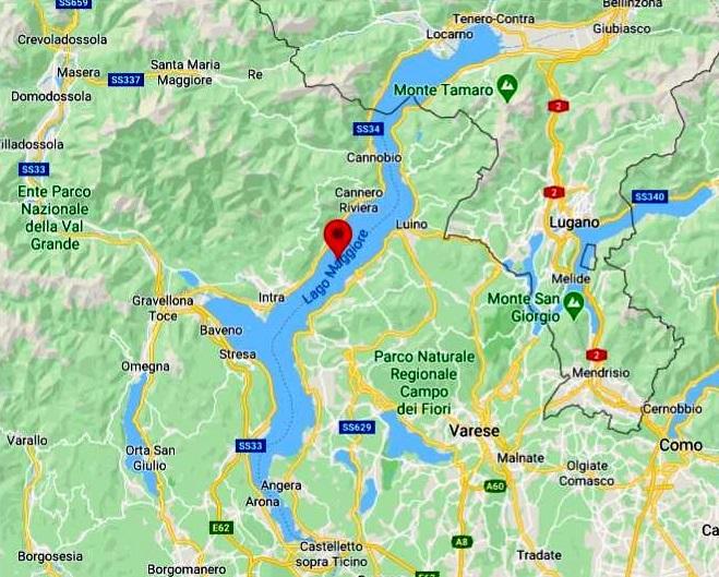 Maggiore Gölü Haritası