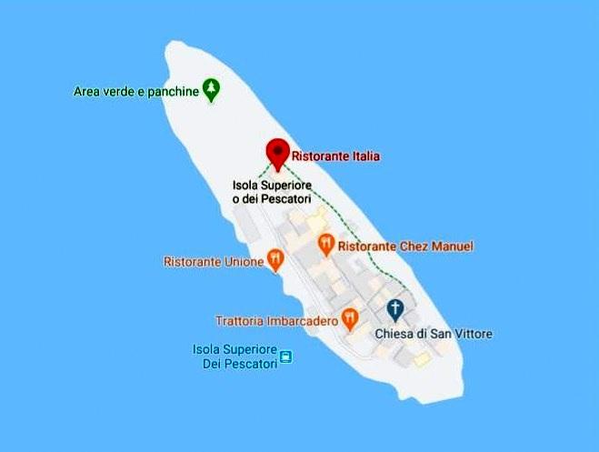 Isola Superiore Haritası