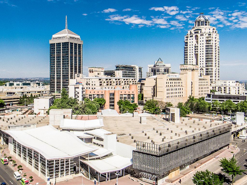 Johannesburg' Sandton City ve Oteller Bölgesi