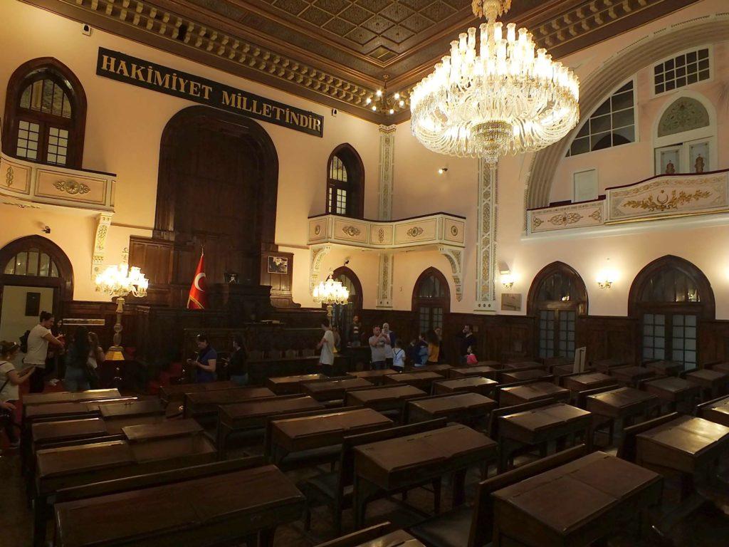 İlk Türkiye Büyük Millet Meclisi Genel Kurul Salonu