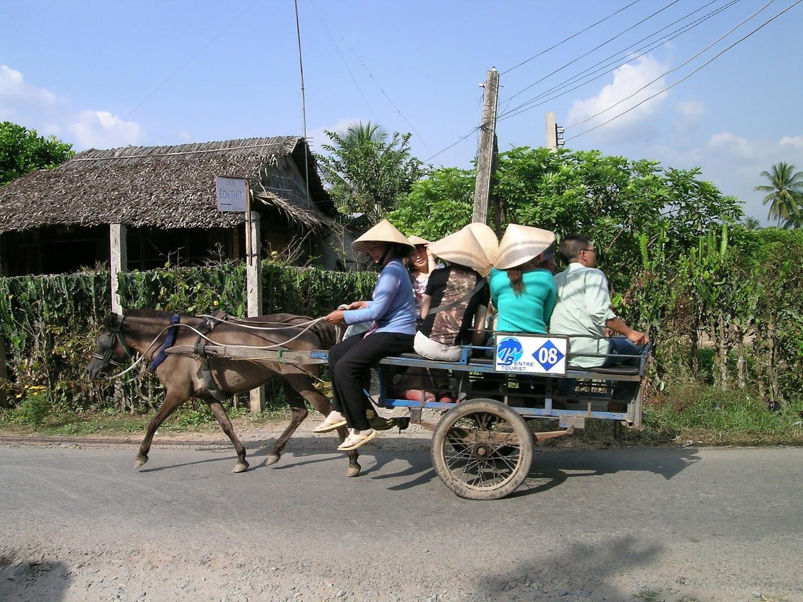 Bisiklet turu yaptığımız Mekong Köyü