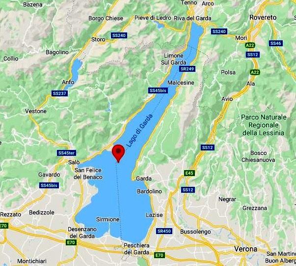 Garda Gölü Haritası