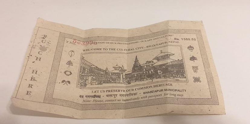 Bhaktapur Giriş Bileti