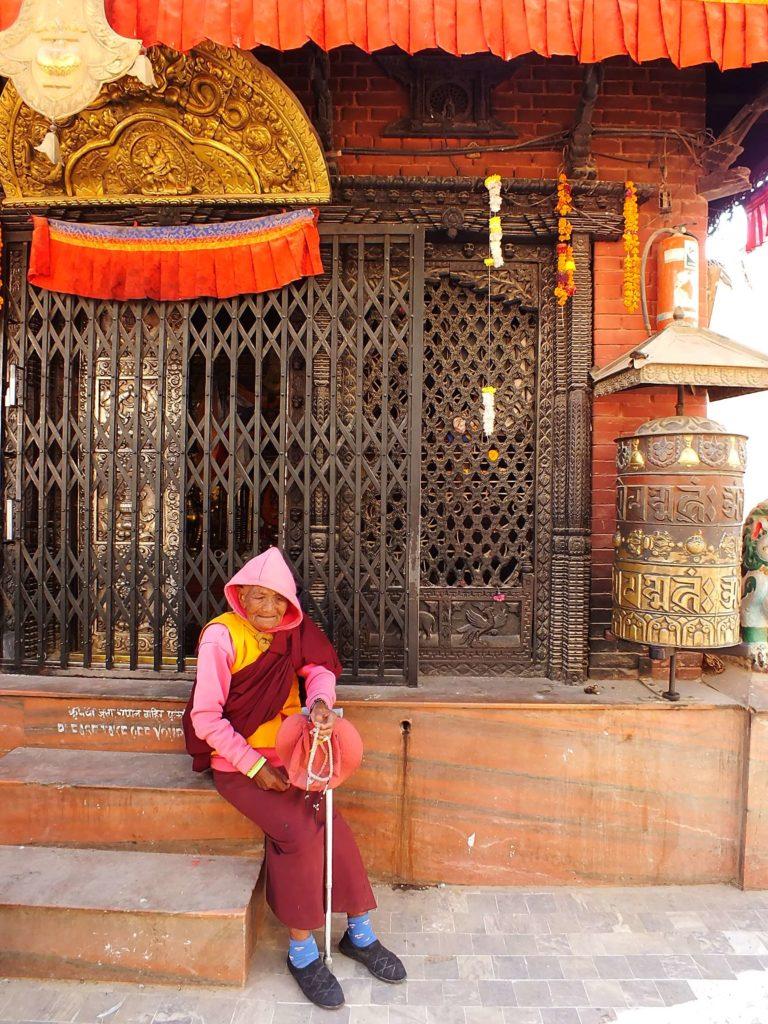 Hacı Adayı Tibetli Bir Kadın Keşiş